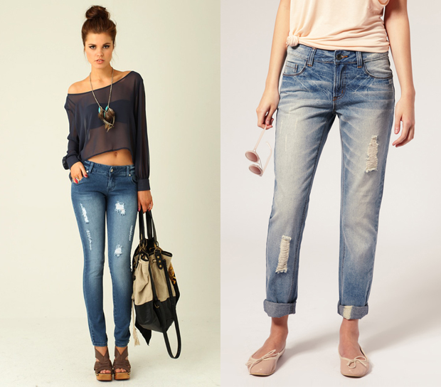 cool ripped jeans - Jean Yu Beauty
