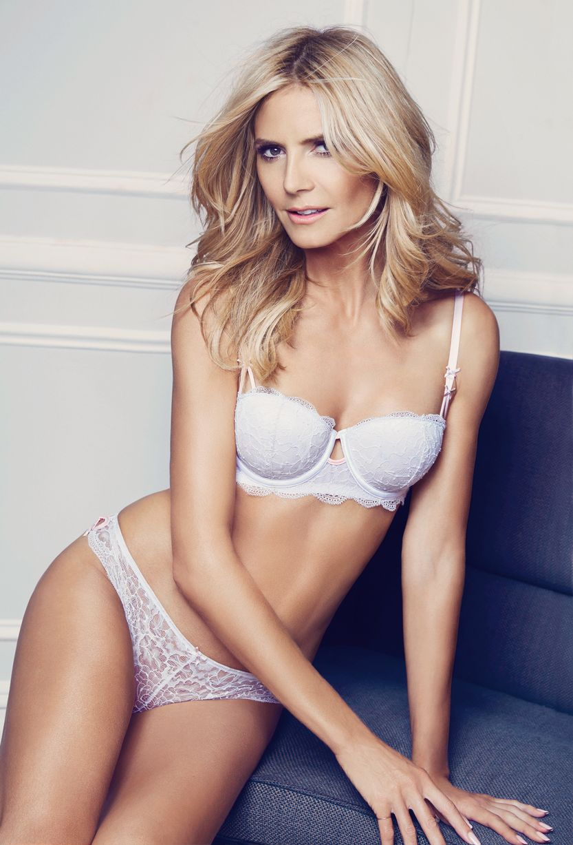 1edad3d25691 Heidi Klum 'Stops Traffic' with her latest lingerie campaign - FFT - Spotting  Trends