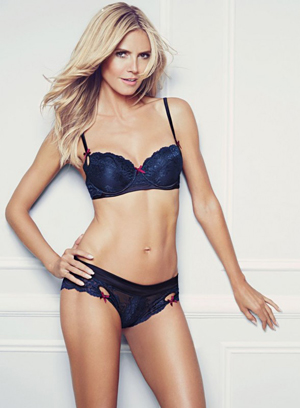 9661ffc6749e Heidi Klum 'Stops Traffic' with her latest lingerie campaign - FFT ...