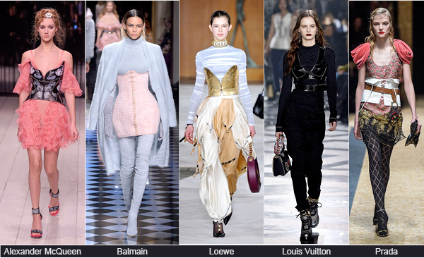 Runway-case of corsets