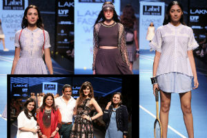 Kriti Sanon walks for The label by Ritu Kumar